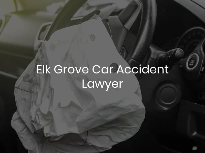 Deployed airbag after car accident in Elk Grove
